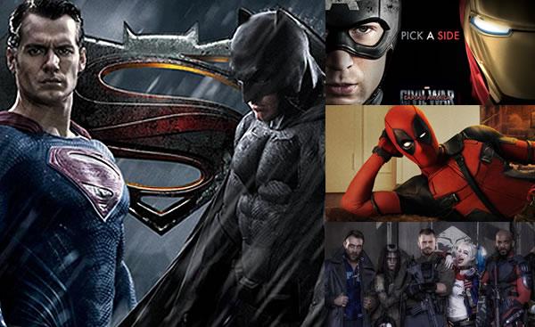 Súper héroes en el cine para el 2016