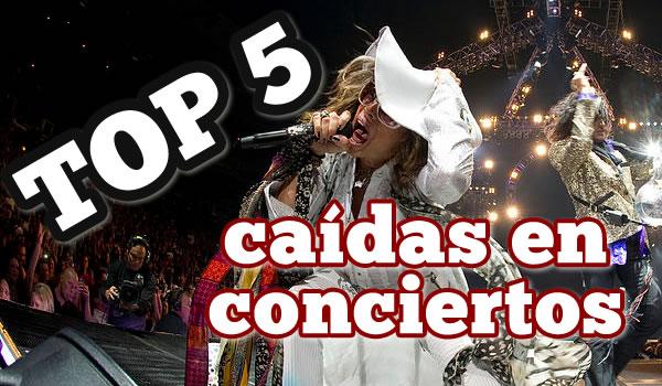 TOP 5 CAIDAS EN CONCIERTOS