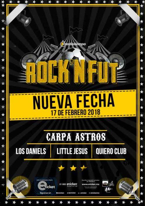 Llega el Rock N´ Fut a Carpa Astros - NUEVA FECHA