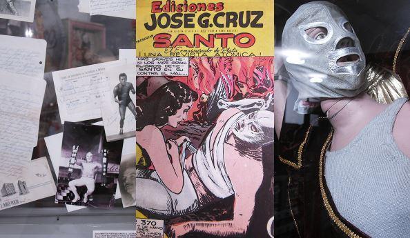 Exposición de 'EL SANTO' en el Museo del Juguete Antiguo de México