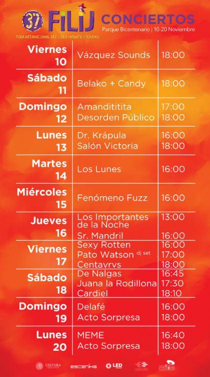 La música mexicana se suma a la fiesta de la FILIJ 10 al 20 Nov.
