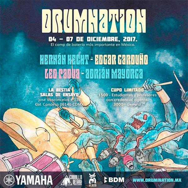 DRUMNATION - camp de batería -  4 al 7 Diciembre