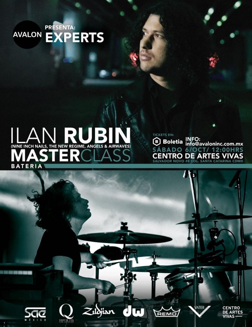 Ilan Rubin de Nine Inch Nails y músicos mexicanos se unen en una Masterclass de bateristas