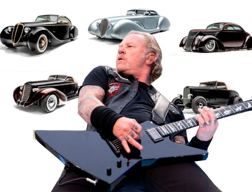 JAMES HETFIELD expondrá su colección de autos