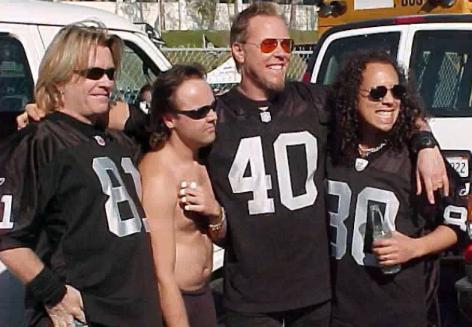 Rockeros y sus equipos de la NFL