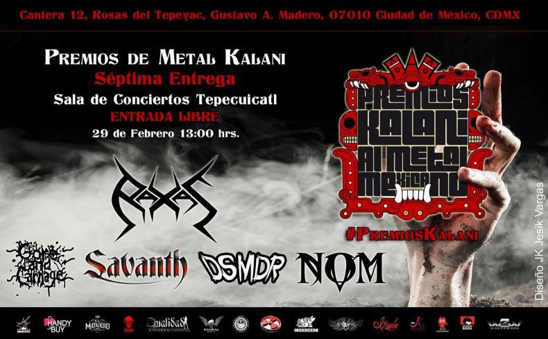 PREMIOS KALANI AL METAL MEXICANO, 29 de febrero