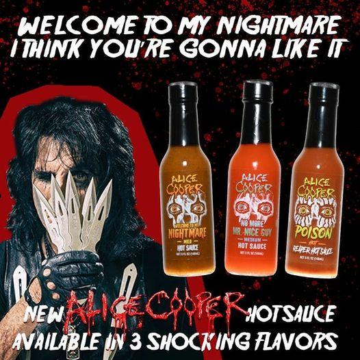 Alice Cooper lanza colección de salsas picantes