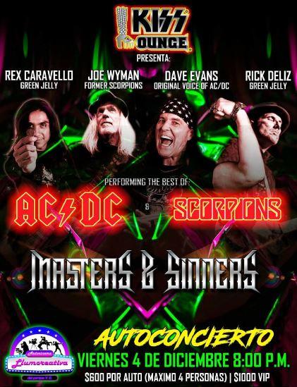 Llega en diciembre el primer autoconcierto Internacional 'Masters and Sinners' a la CDMX
