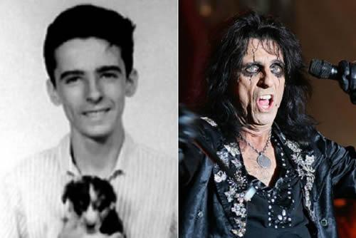 Alice Cooper - antes & después