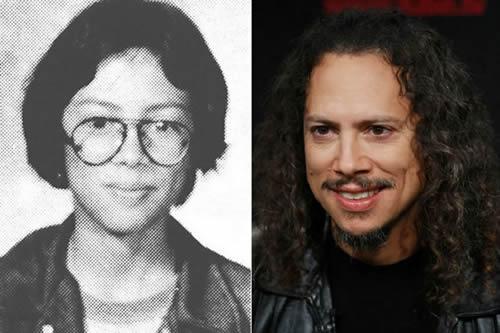 Kirk Hammet - antes & después
