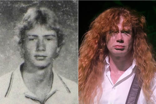 Dave Mustaine - antes & después