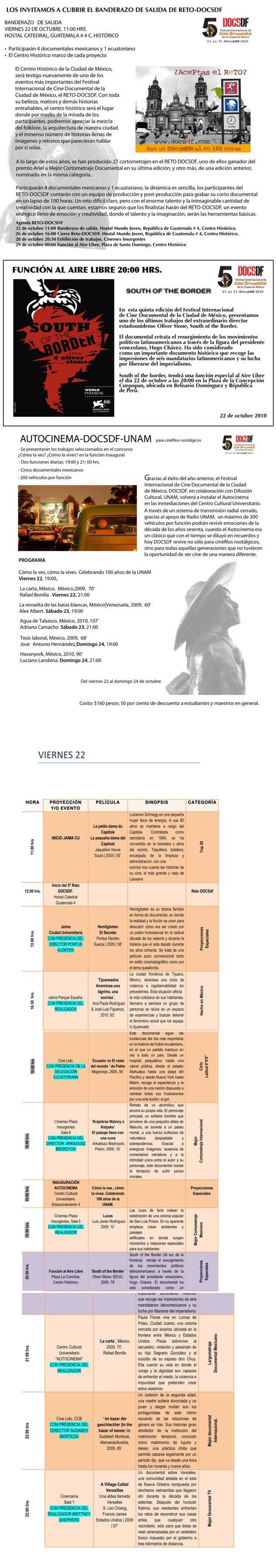 DOCS DF - Actividades del 22 de Octubre