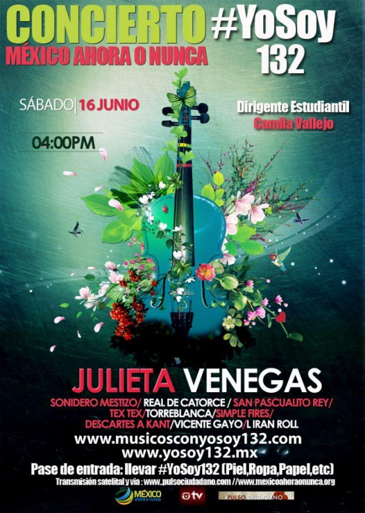 Concierto Movimiento #Yosoy132 – 16 Junio