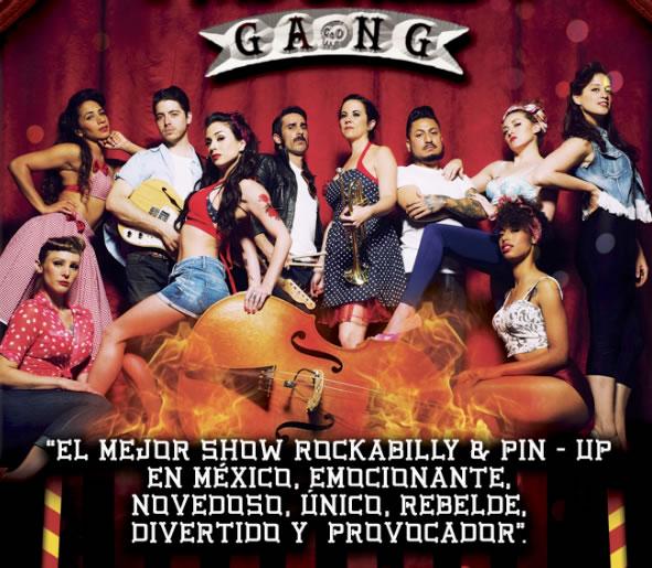HEELS ON FIRE & THE CIRCUIT GANG show de Rockabilly en la Condesa.