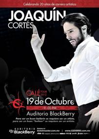 JOAQUÍN CORTÉS     CALÉ TOUR 2012