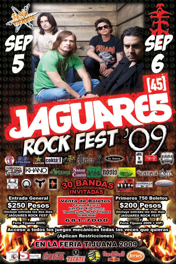 JAGUARES EN EL ROCK FEST EN TIJUANA