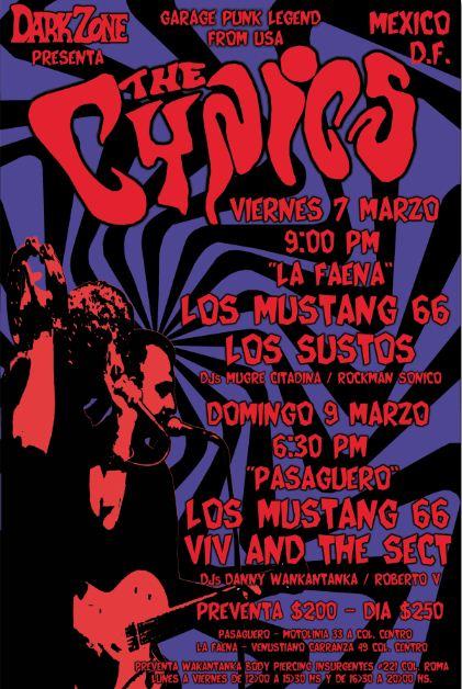 THE CYNICS, Gira por México en Marzo