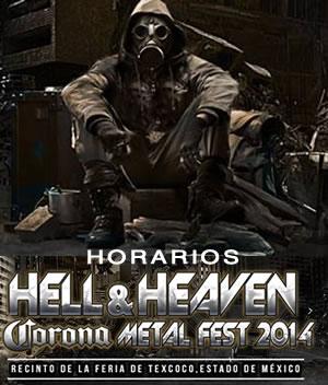HELL & HEAVEN 201415 y 16 Marzo - Horarios