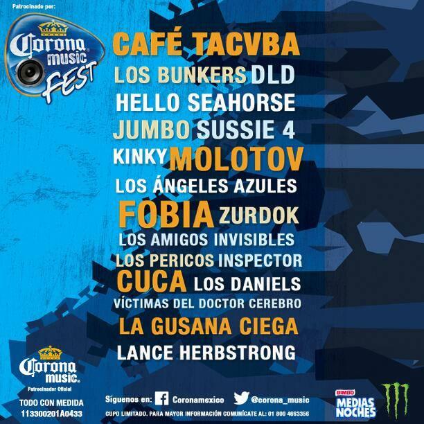 CORONA MUSIC FEST 2014!Gira nacional de rock!