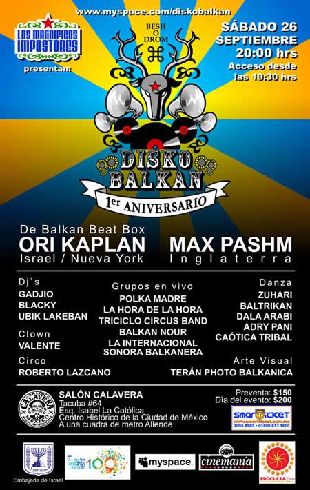 DISKO BALKAN1er Aniversario - 26 Septiembre,