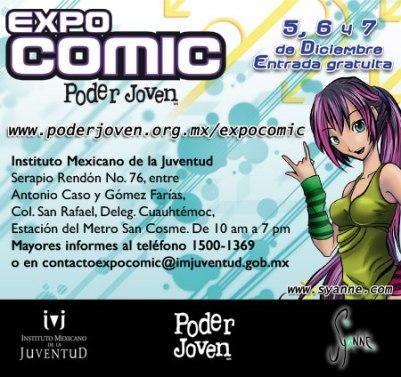 EXPO CÓMIC PODER JOVEN Del 5 al 7 de diciembre,