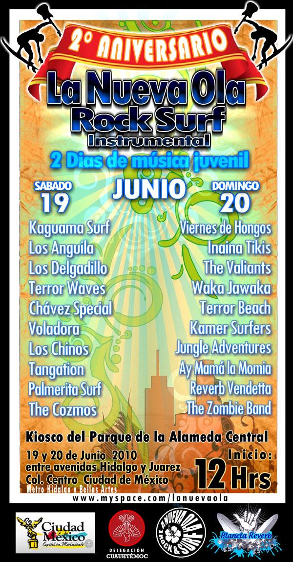 2 DIAS DE MUSICA SURF EN LA ALAMEDA CENTRAL 19 y 20 DE JUNIO