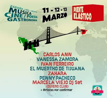 FESTIVAL PUENTE ELASTICO en SALA, Puente elástico en el sala, Javier Corcobado y Mon Laferte en el Puente elástico, España y México unidos en el Festival Puente Elástico