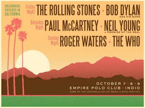 DESERT TRIPUn festival con un cartel histórico - Octubre 2016, Desert Trip,  Rolling Stones, The Who, Roger Waters, Bob Dylan y m�s en el Desert Trip
