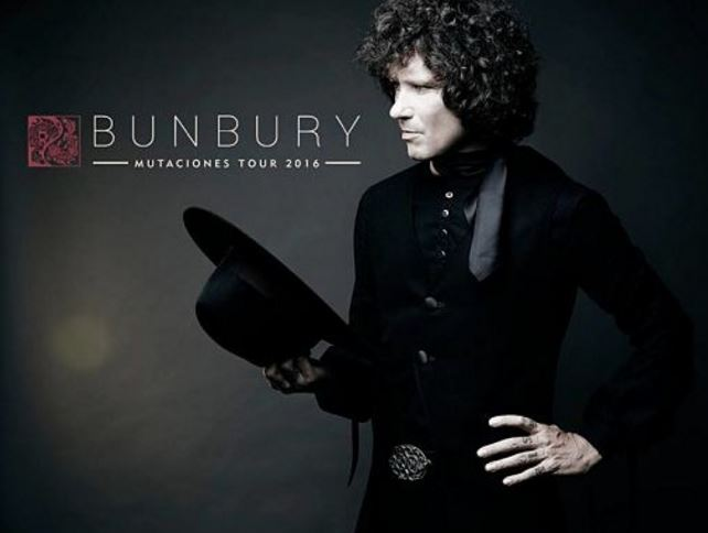 BUNBURYEn el Auditorio Nacional en septiembre, Bunbury con gira Mutaciones Tour, Bunbury regresa al Auditorio Nacional