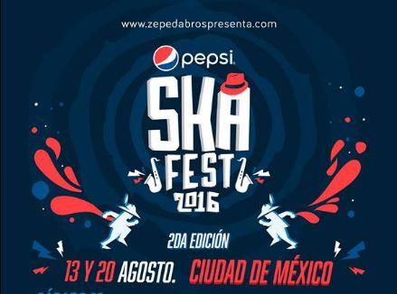 PEPSI SKA FEST2da edición 13 y 20 de Agosto , Pepsi ska fest 2016, Mighty Mighty Bosstones en México, Reel Big Fish en México, Save Ferris en México