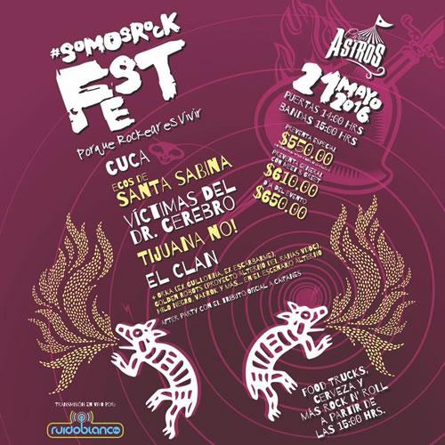 SOMOS ROCK FEST Tijuana No!, Cuca, Victimas dr. Cerebro y más en Carpa Astros, SomosRock Fest, Cuca y Tijuana No en Carpa Astros, Rock de los 90�s en carpa astros