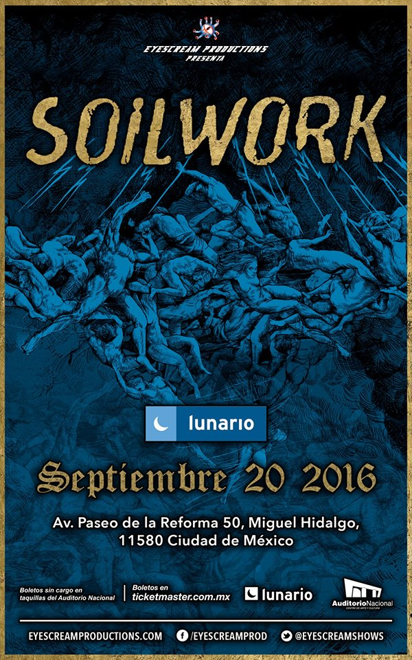 SOILWORKRegresa a México, Soilwork regresa a México, death metal sueco, The ride majestic, Death Sueco Melódico