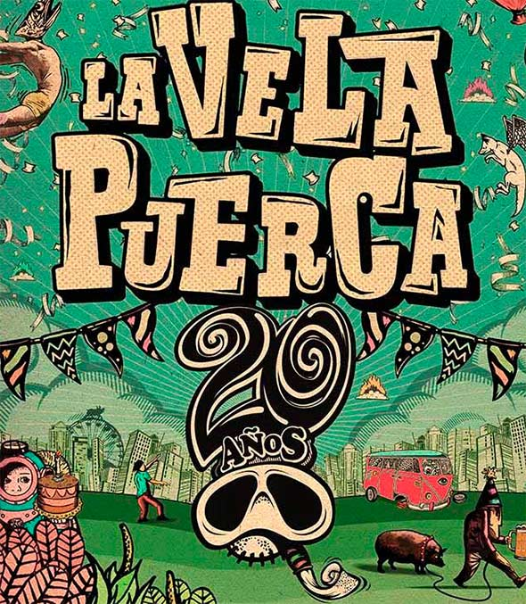 10 CANCIONES PARA ENTENDER A LA VELA PUERCAEn su visita a México, 10 canciones para entender a La Vela Puerca, La vela Puerca en carpa astros