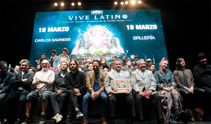 VIVE LATINO 2017Sale de la zona de confort, rueda de prensa vive latino 2017