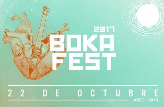 BOKA FESTCaligaris, Desorden Público, Los pericos, inspector y más, en Tecamac el 22 de Octubre, Festival Boka Fest 2017, cartel del boka fest, caligaris en tecamac, bad manners en tecamac
