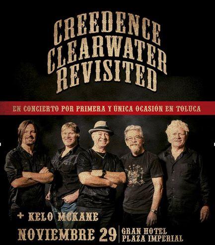 CREEDENCE CLEARWATER REVISITEDEn Metepec, único concierto en el centro de la república,
