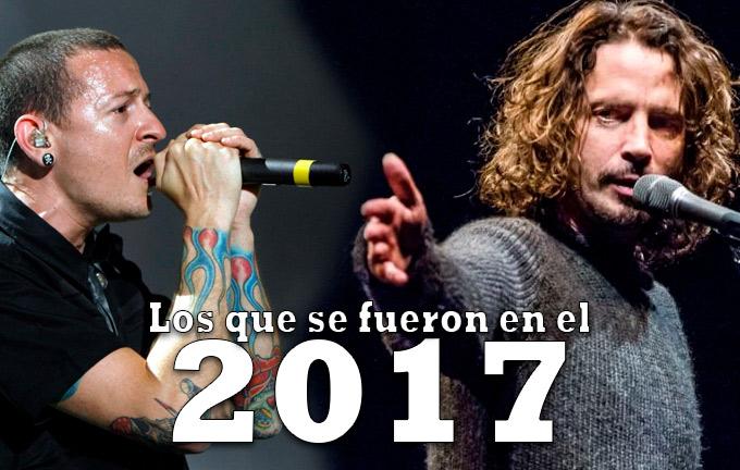 Los rockeros que perdimos en el 2017