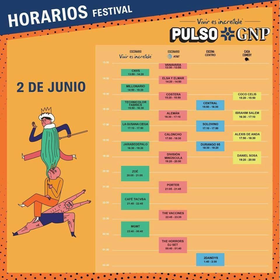FESTIVAL PULSO GNPSe acerca la fecha, 2 de junio, Festival GNP - En Querétaro, apuesta por el talento local, The vaccines y MGMT en Querétaro