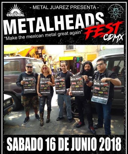 METAL HEADS CDMX FESTTransmetal, Anabantha, Luzbel y más - 16 de Junio , METAL HEADS CDMX Fest presenta a Transmetal, Anabantha, Luzbel y más en el foro moctezuma el 16 de Junio