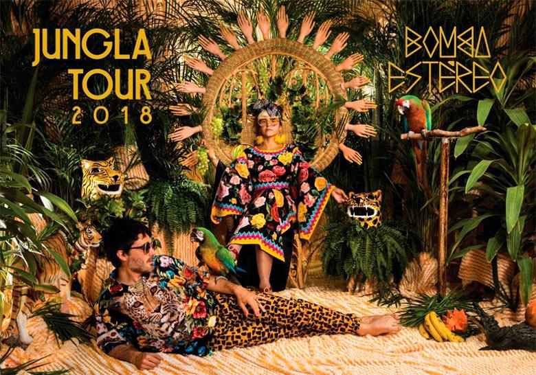 BOMBA ESTEREOLlegan al Pepsi center con una fiesta tropical y electrónica, Bomba estereo en la CDMX en el pepsi center en octubre 2018