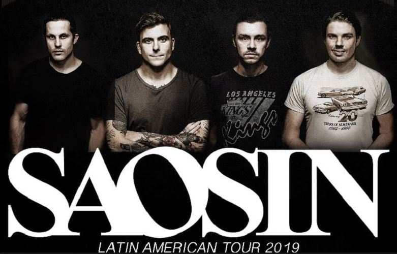SAOSINRegresa a México el 9 de febrero, SAOSIN en el Lunario este 9 de febrero, Saosin visita por 2da vez México