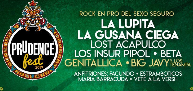 PRUDENCE FESTLA LUPITA, LA GUSANA CIEGA Y MÁS .. 21 DE SEPTIEMBRE, prudence fest llega al frontón mexico,  cartel del prudence fest