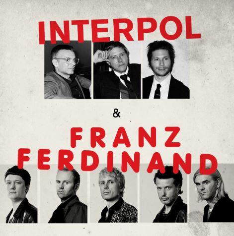 INTERPOL Y FRANZ FERDINAND Anuncian conciertos en conjunto en México, Los neoyorquinos y los escoceses visitarán Monterrey y Guadalajara el 12 y el 14 de noviembre, respectivamente