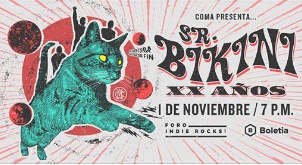 SR BIKINI Celebran dos décadas de sonidos instrumentales en el indie rocks, SR BIKINI banda de surf mexicana celebra su XX aniversario