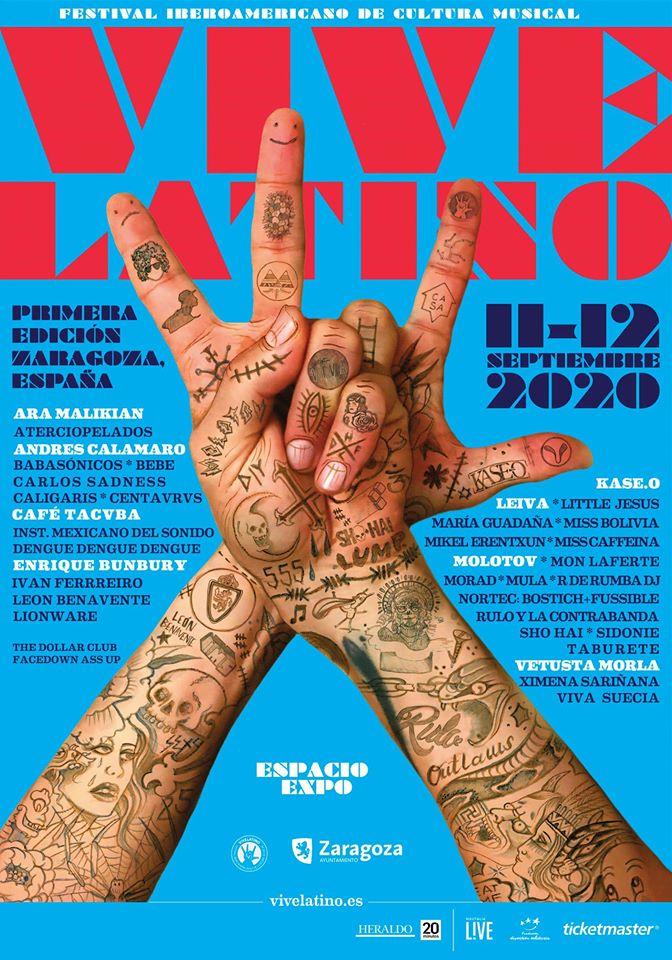 Vive LatinoLlega a España y vivirá su segunda aventura en el extranjero , Vive Latino, España, Leiva, Café Tacvba, Zaragoza, 11 y 12 de septiembre de 2020, Chile