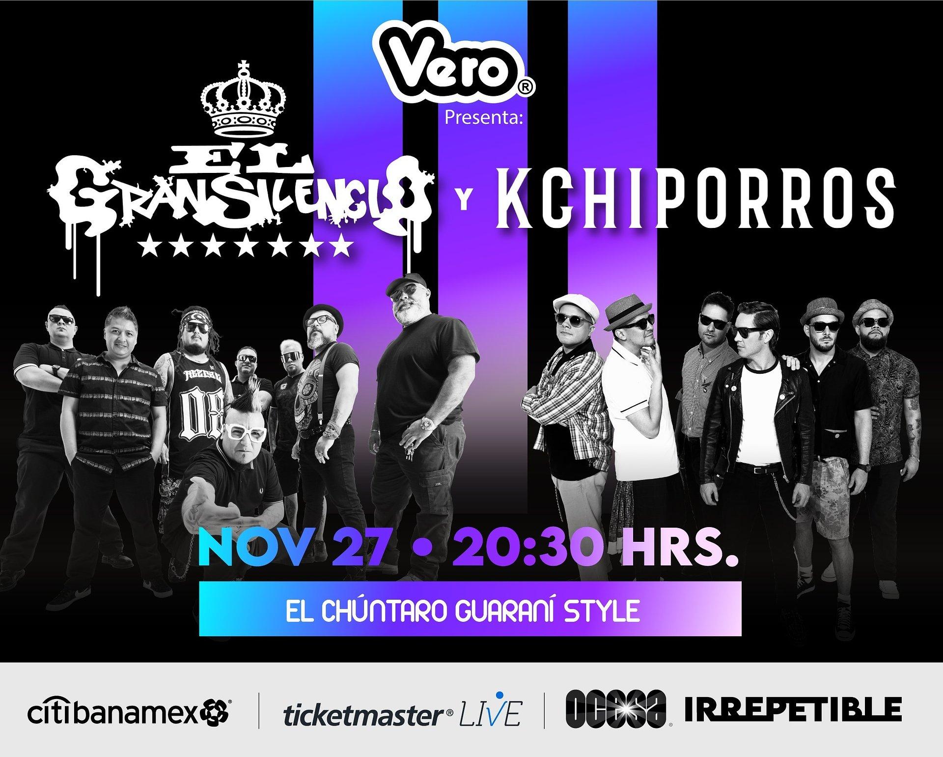 EL GRAN SILENCIO Y KCHIPORROSEl Chúntaro Guaraní Style  en IRREPETIBLE, El Gran Silencio y Kchiporros darán un concierto IRREPETIBLE