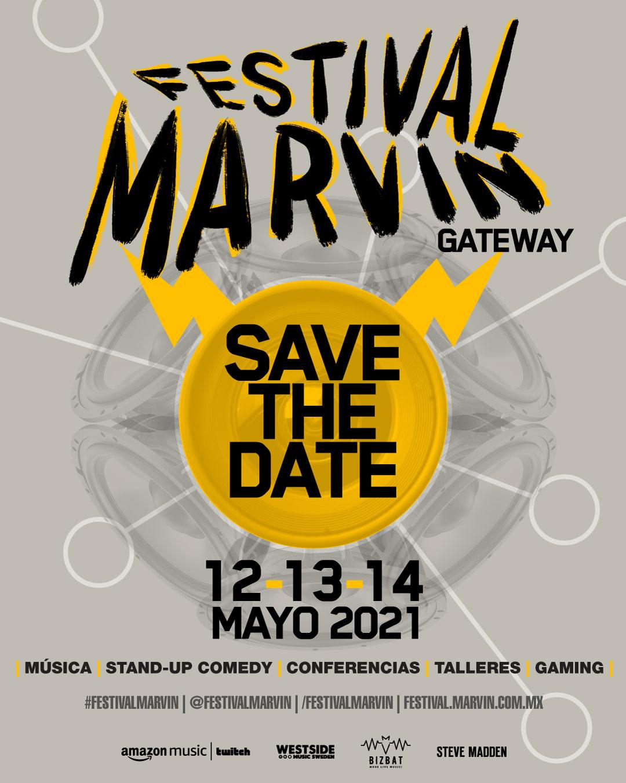 FESTIVAL MARVIN  GATEWAYFestival Marvin presenta una nueva edición virtual 12, 13 y 14 de mayo de 2021, festival marvin llega en formato streaming en el 2021