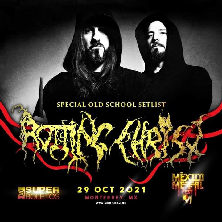 MXMF Sigue en pieROTTING CHRIST se une a la sexta edición - 29 Octubre, Cartel de la sexta edición del Mexico Metal Fest