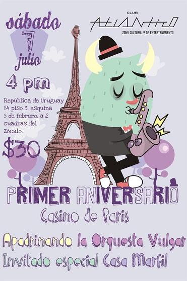 CASINO DE PARIS7 Jul en Club Atlántico