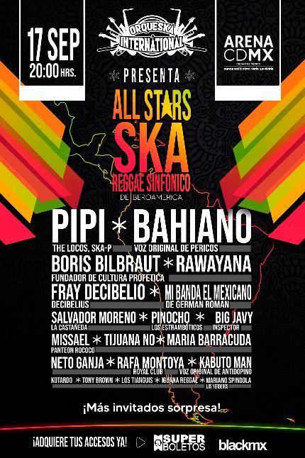 GRAN FESTIVAL DE SKA Y REGGAE Llega a la Arena CDMX el 17 de septiembre, conoce el cartel, Festival en la arena CDMX con voces originales del movimiento ska y el reggae en hispanoamérica